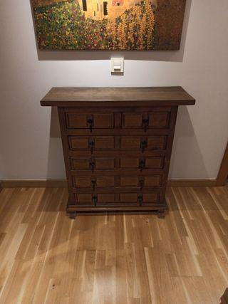 Mueble cómoda-recibidor rústico antiguo