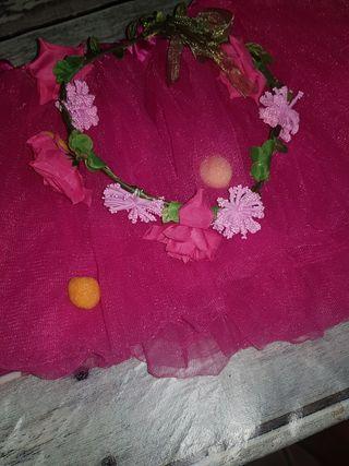 falda de tul y diadema