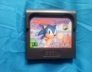 Juego Game gear Sonic The Hedgehog.