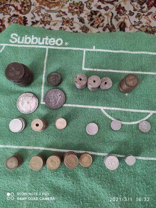 monedas españolas antiguas franco y rey