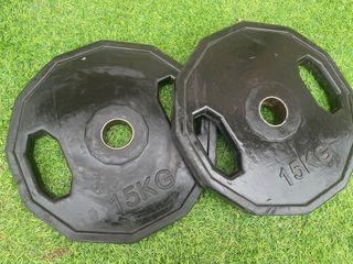 Discos pesas olimpicos 15 kg (pareja)