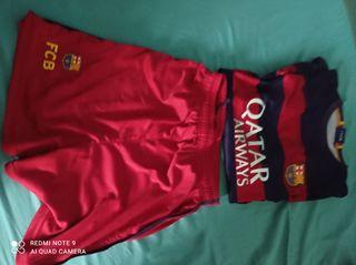 equipación Barça de 14 años
