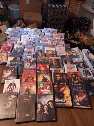 Más de 80 películas originales de DVD.