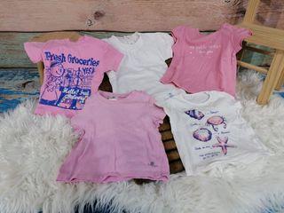 lote camisetas de manga corta 6/9 meses