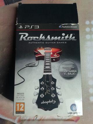 Guitarra y vídeojuego Rocksmith PSP3