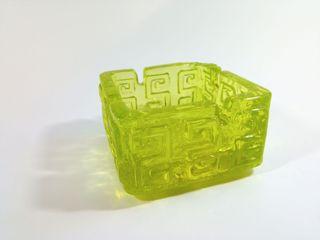 Cenicero Taalari cristal uranio. Riihimäen Glass