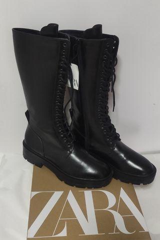 Botas altas de cordones de Zara sin estrenar