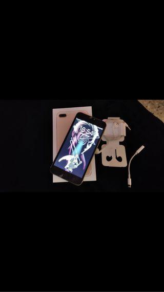 I phone 7 plus , caja -auriculares , adaptador