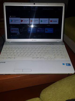 portatil sony vaio i3. con systema android tv
