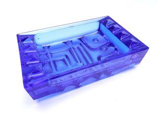 Cenicero Sklo Union-Rosice cristal azul cobalto