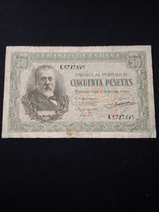 billete 50 pesetas 1940