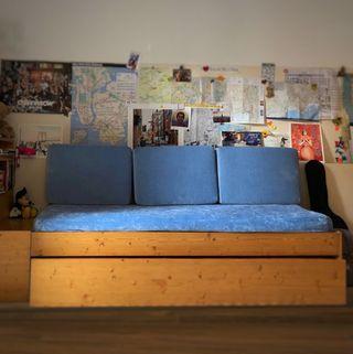 3 cojines grandes para respaldo cama /sofá y funda