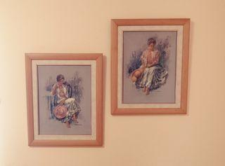 Conjunto de 2 cuadros en relieve.