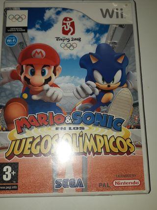 mario&Sonic en los Juegos Olímpicos.juego wii