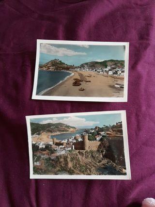 Dos postales Tossa. Antiguas
