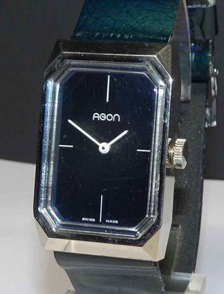 1026-Reloj AGON, Swiss made, vintage, NOS (new old
