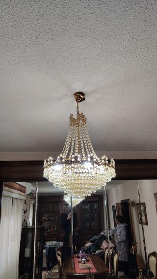 2 Lámparas Araña