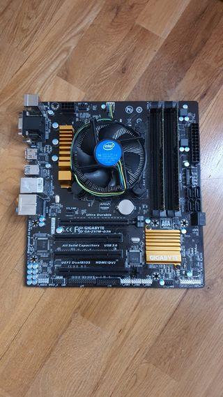 placa con procesador y ram
