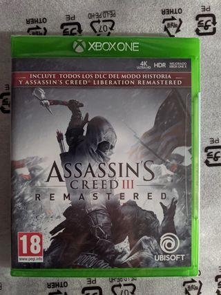 *NUEVO* Assassins Creed III Remastered para Xbox