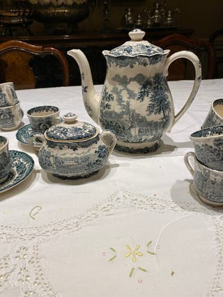 Juego café inglés de porcelana Royal Worcester