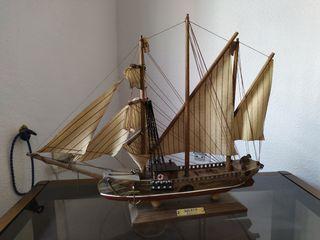 maqueta de barco del siglo 19 goleta
