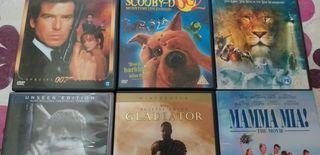 DVD.en inglés,accion,comedia,dibujos,y más varieda