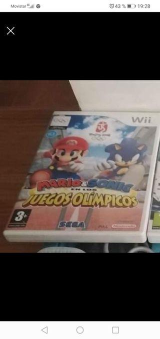 juego wii Mario y Sonic