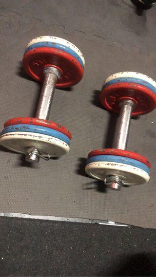 Mancuernas ajustables gimnasio (pesas)