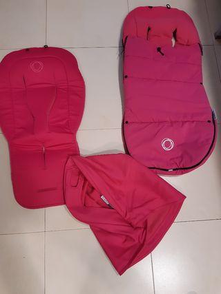 Conjunto de bugaboo donkey en rosa fucsia.