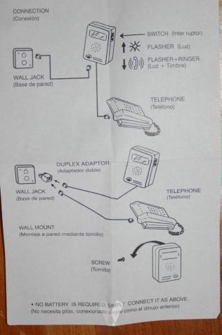 Avisador acustico y luminoso telefonia