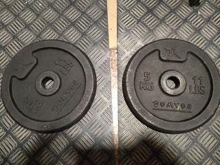 2 pesas de 5kg 28mm
