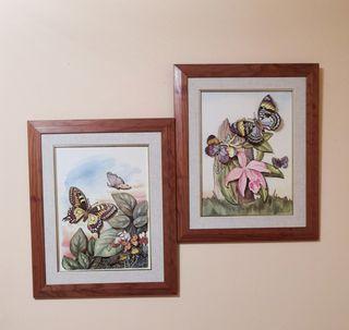 Conjunto de 2 cuadros, en relieve.