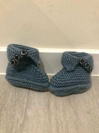 Patucos bebe azul