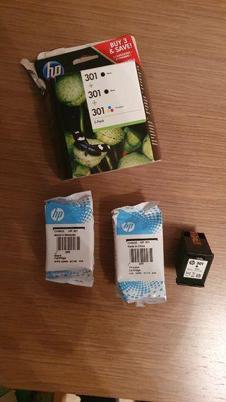 cartuchos HP 301 nuevos