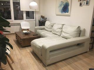 Fantástico Sofá de piel- Chaise longue
