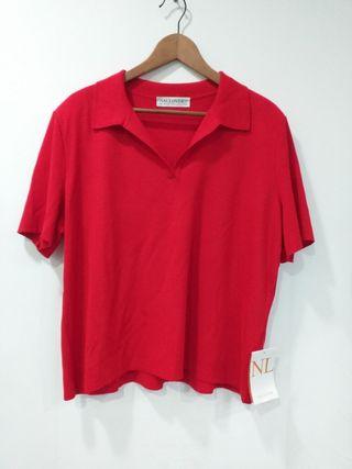 Jersey de punto color rojo