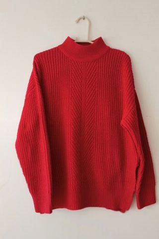 Jersey cuello Perkins rojo