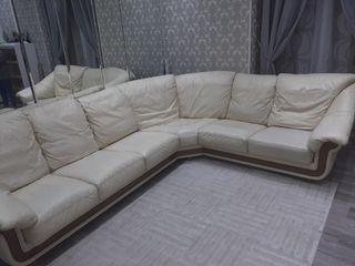 sofá rinconera de piel