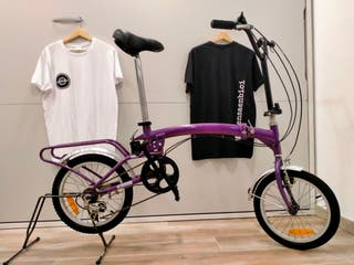 Bicicleta plegable 16teen lila