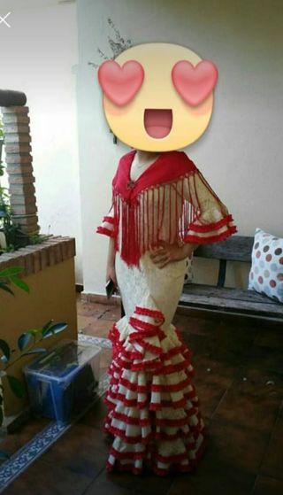 Traje de flamenca,talla 40 42.