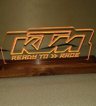 Cartel lámpara luminoso Motorbike KTM
