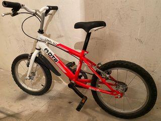 Bicicleta 16 pulgadas + patinete 3 ruedas