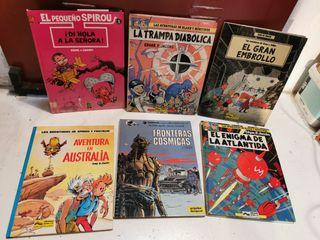 lote cómics años 80 tapa dura libros