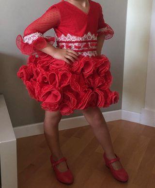 vestido de flamenca niña 3-6 años