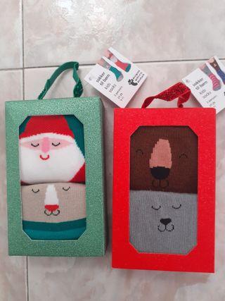 Lote 4 calcetines navidad niños