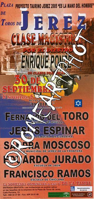 Cartel toros Jerez