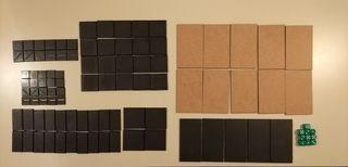 Peanas cuadradas y rectangulares
