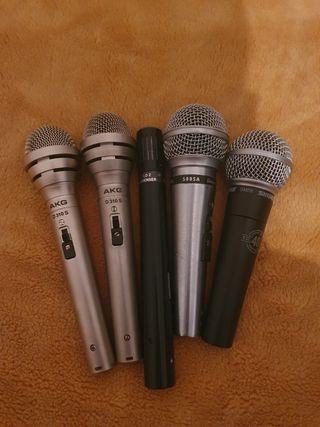 lote micrófonos shure y AKG nuevos