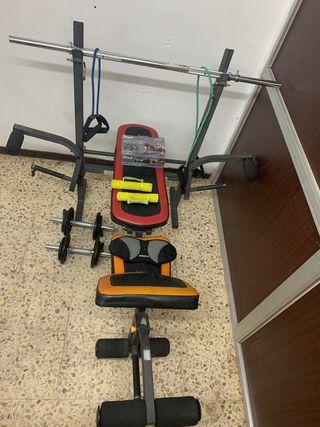 Pack de musculacion y ejercicio.