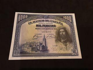 Billete 1000 Pesetas 1928 Alfonso XIII S/C España